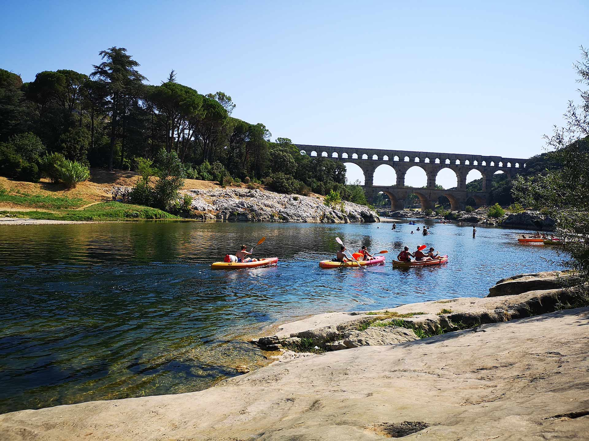 Camping au Pont du Gard à Collias